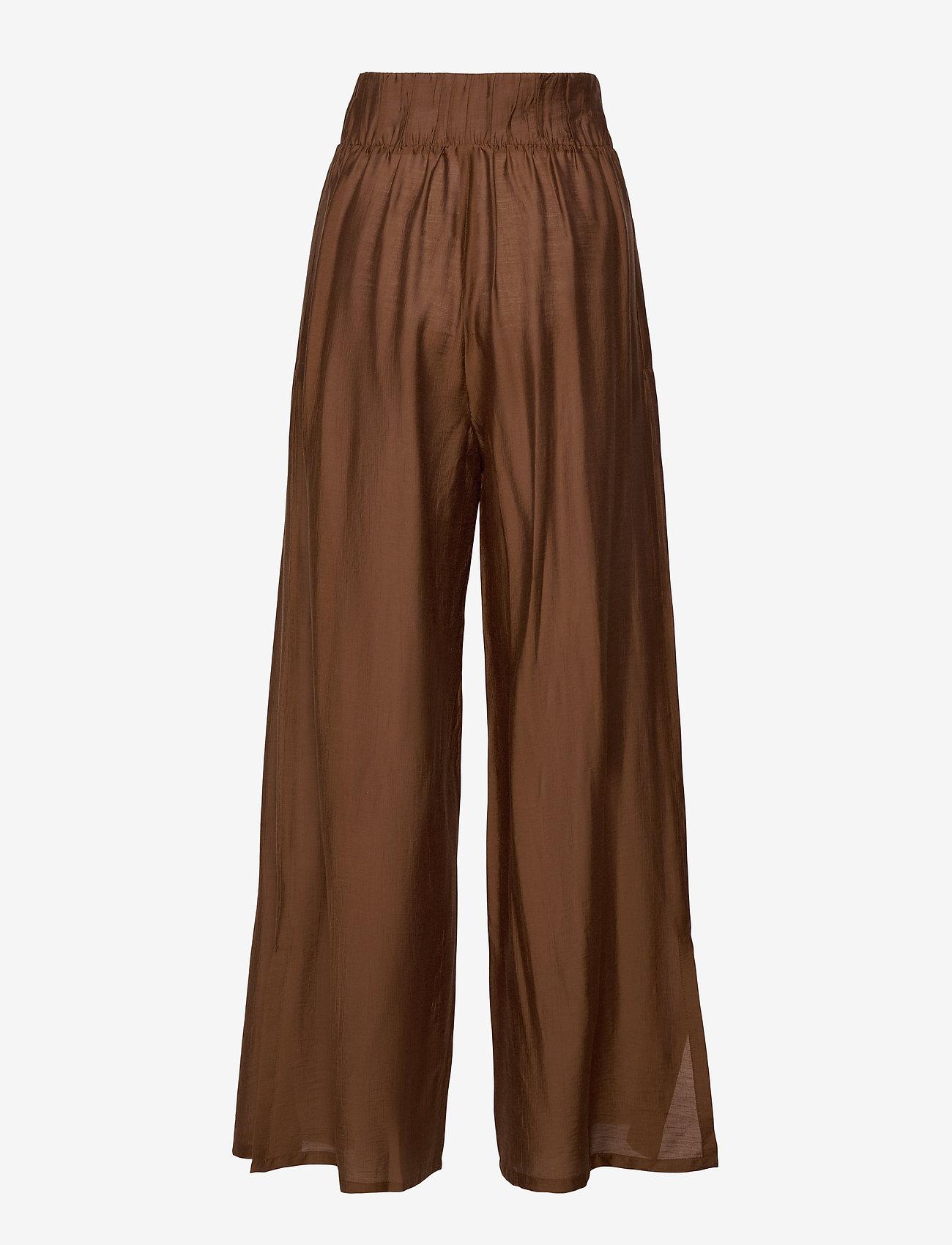 Max Mara Leisure - GREENH - wide leg trousers - brown - 1