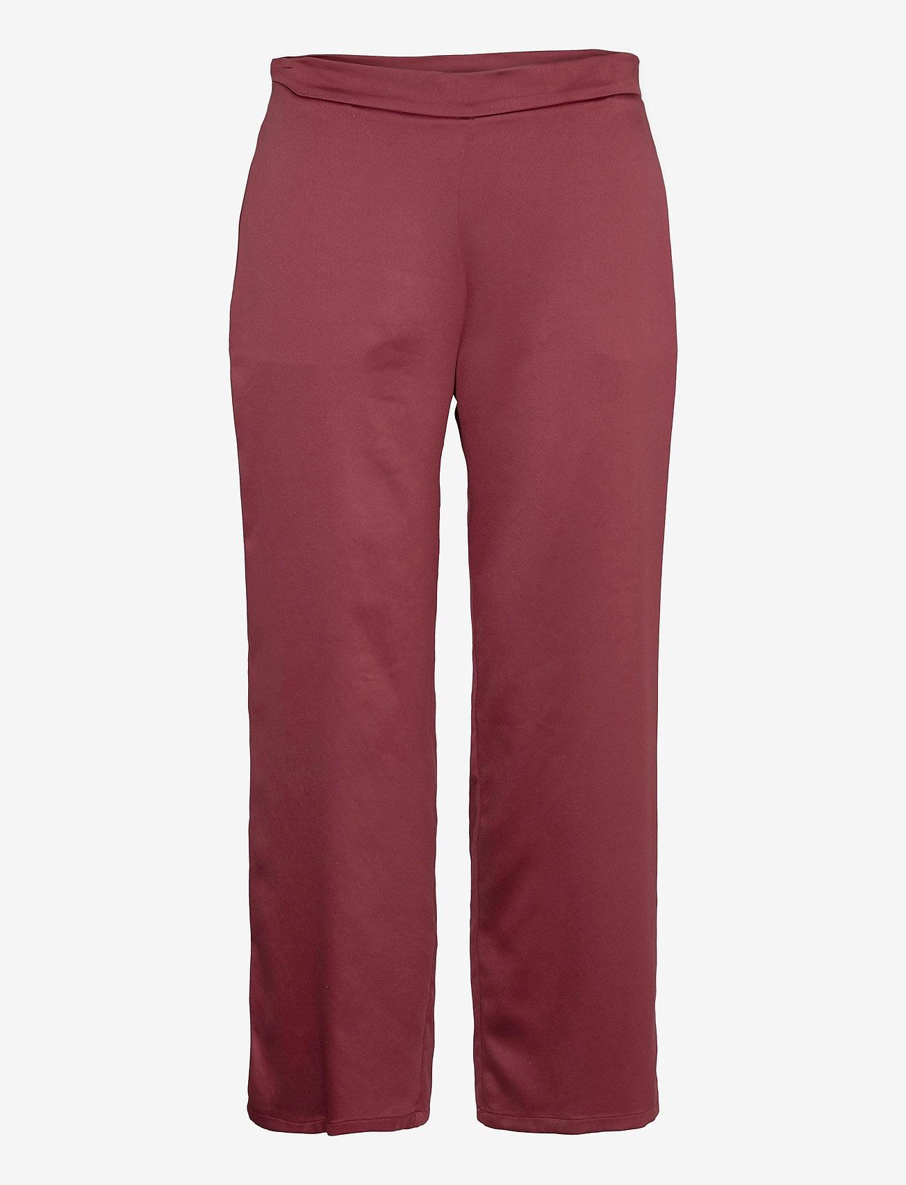 Max Mara Leisure - ENFASI - straight leg trousers - brick red - 0