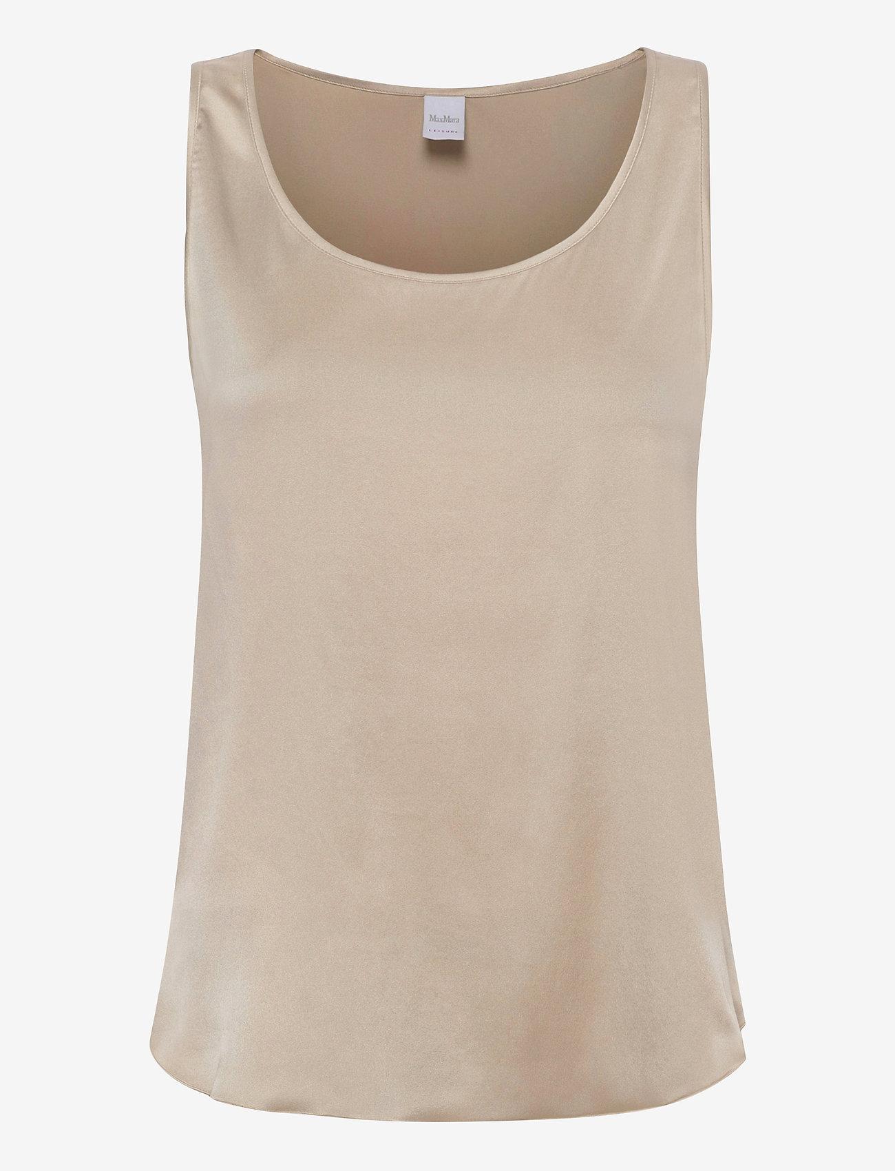 Max Mara Leisure - PAN - sleeveless blouses - ecru - 0