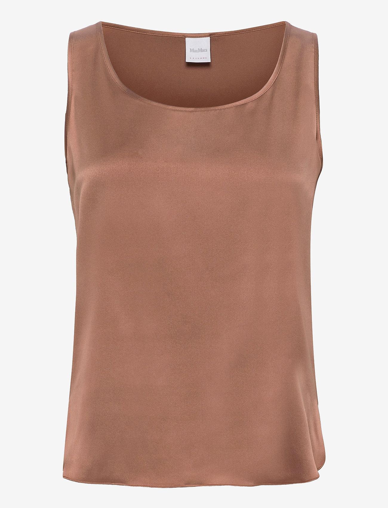 Max Mara Leisure - PAN - sleeveless blouses - tobacco - 0