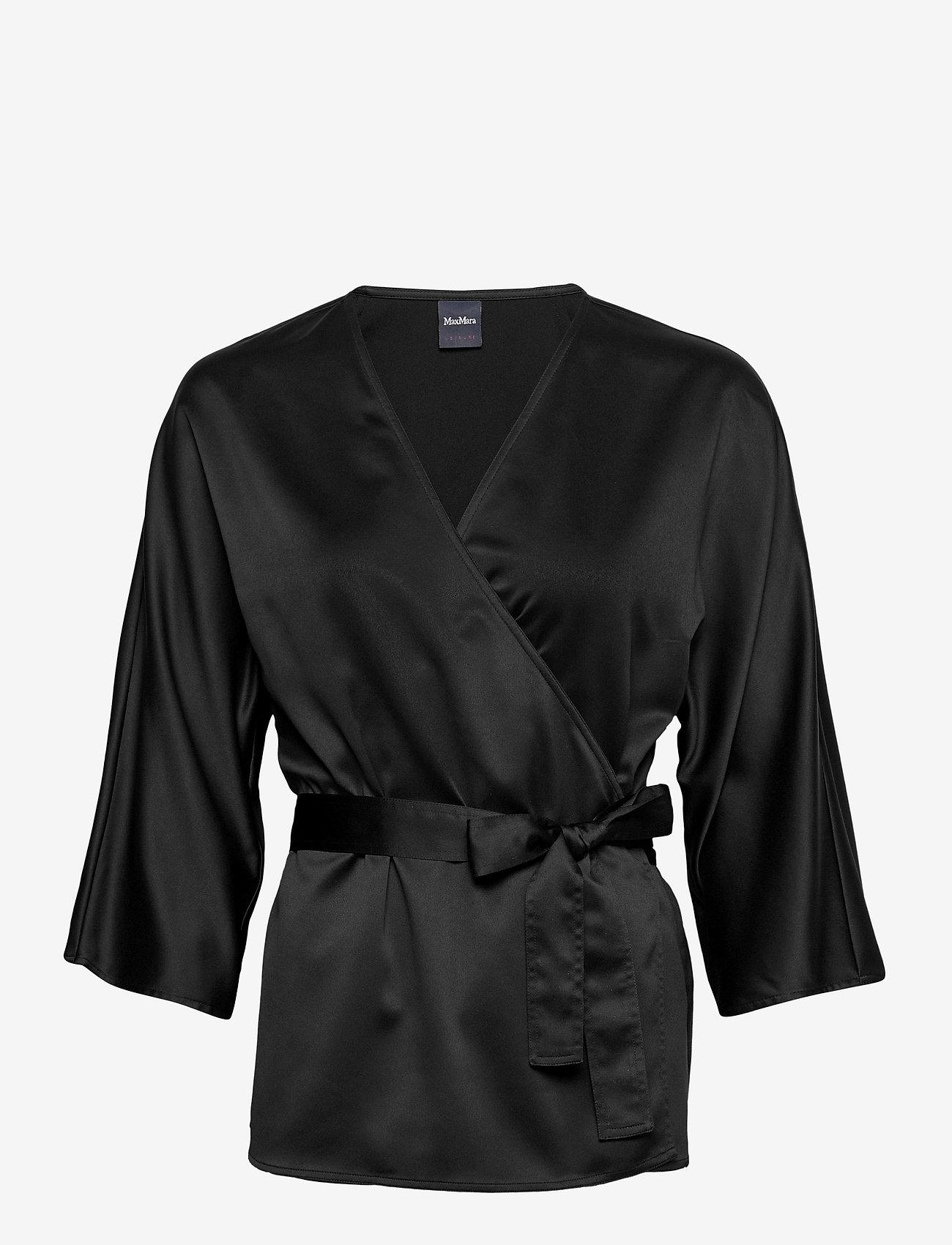 Max Mara Leisure - AEROSO - short-sleeved blouses - black - 0