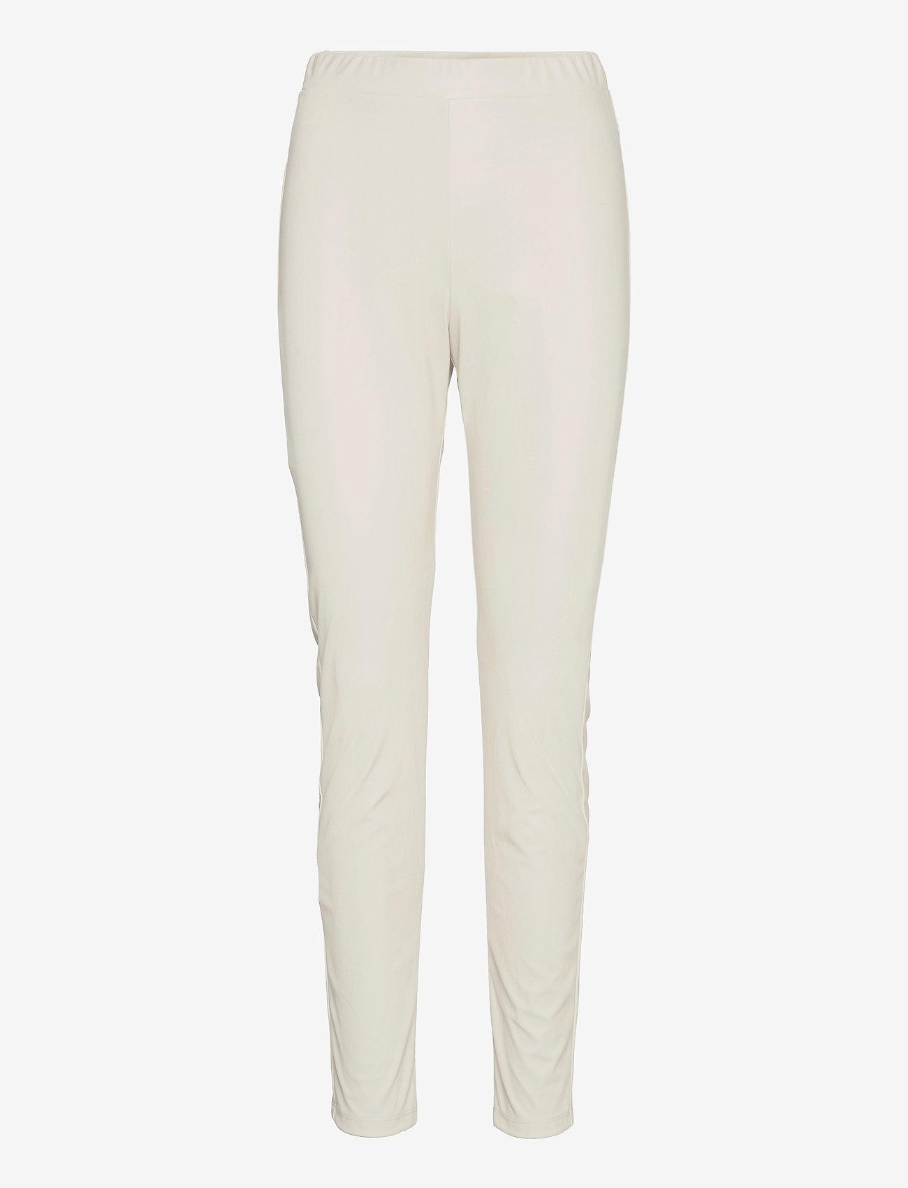 Max Mara Leisure - RANGHI - leather trousers - beige - 0