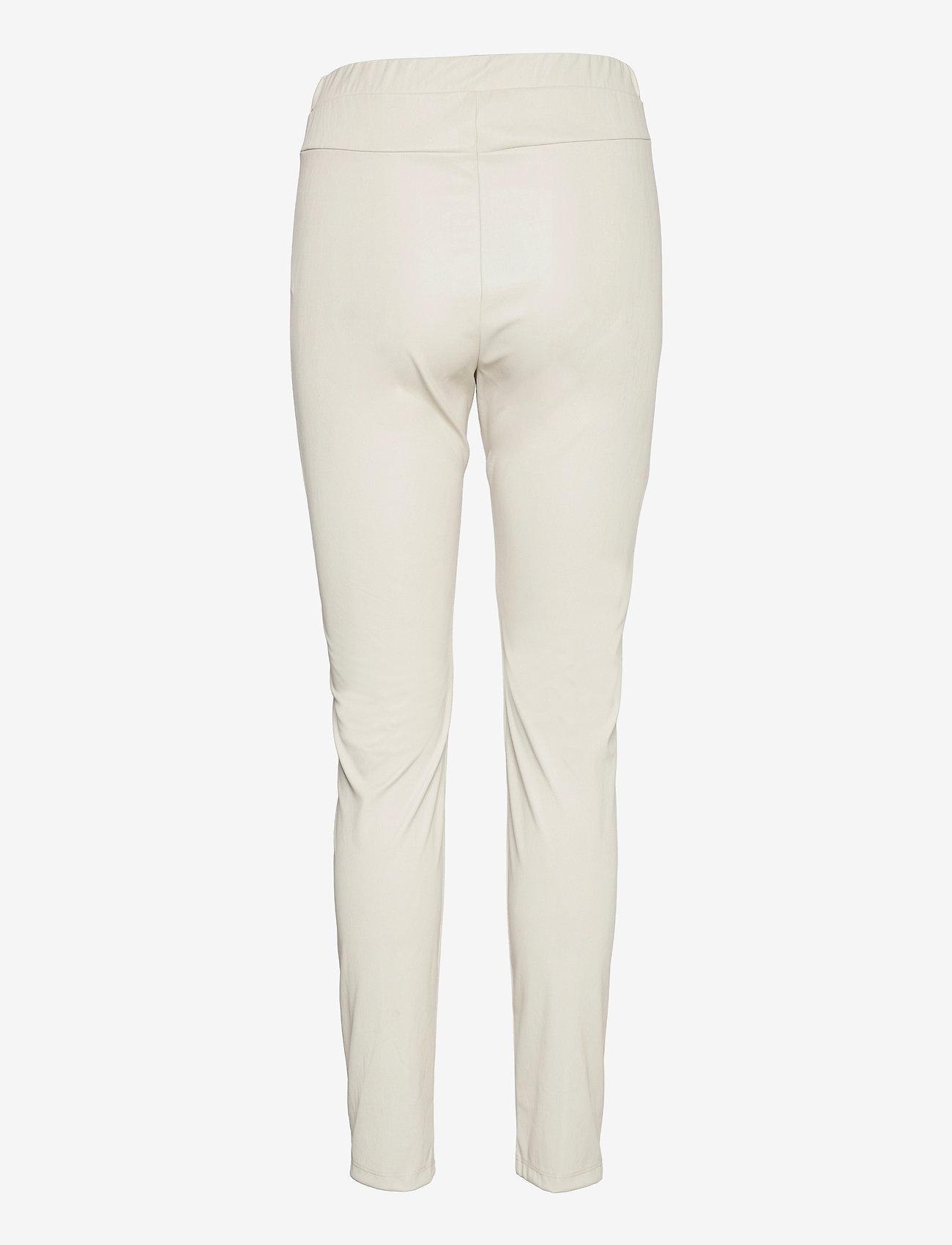 Max Mara Leisure - RANGHI - leather trousers - beige - 1