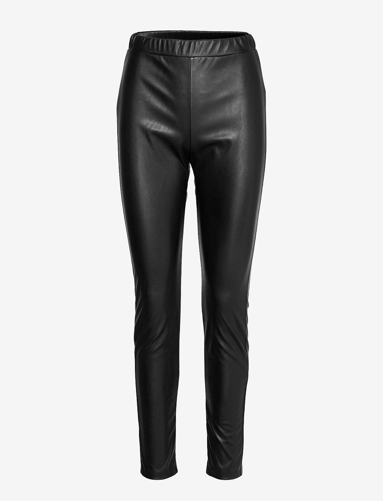 Max Mara Leisure - RANGHI - leather trousers - black - 0