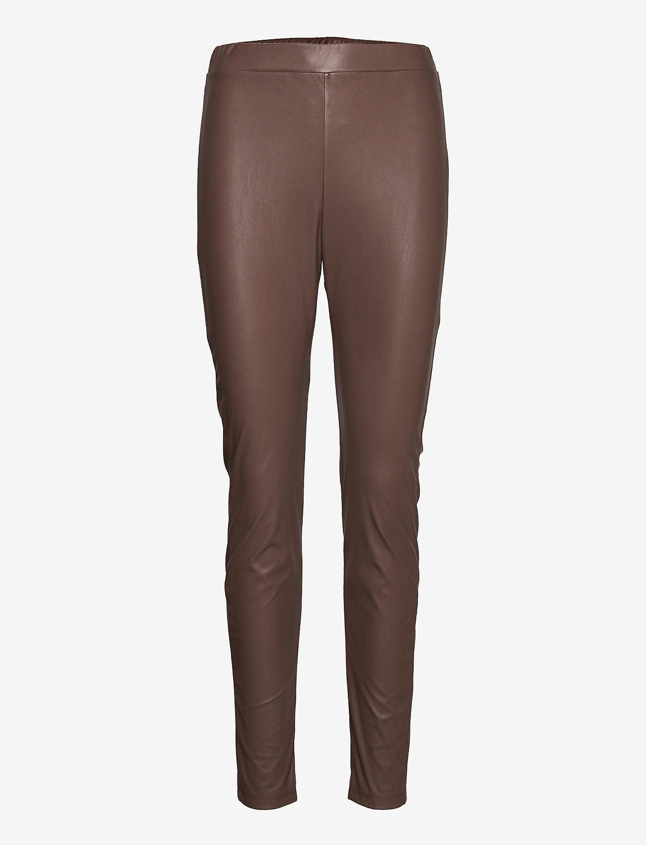 Max Mara Leisure - RANGHI - leather trousers - turtledove - 0