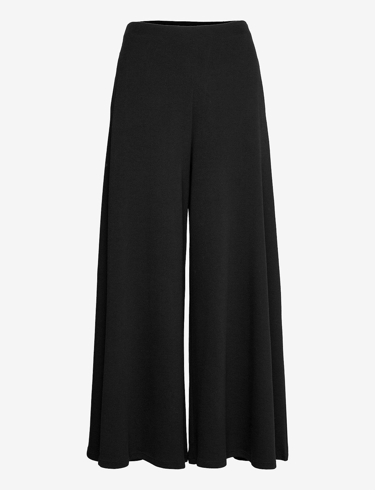 Max Mara Leisure - ESPERIA - wide leg trousers - black - 0