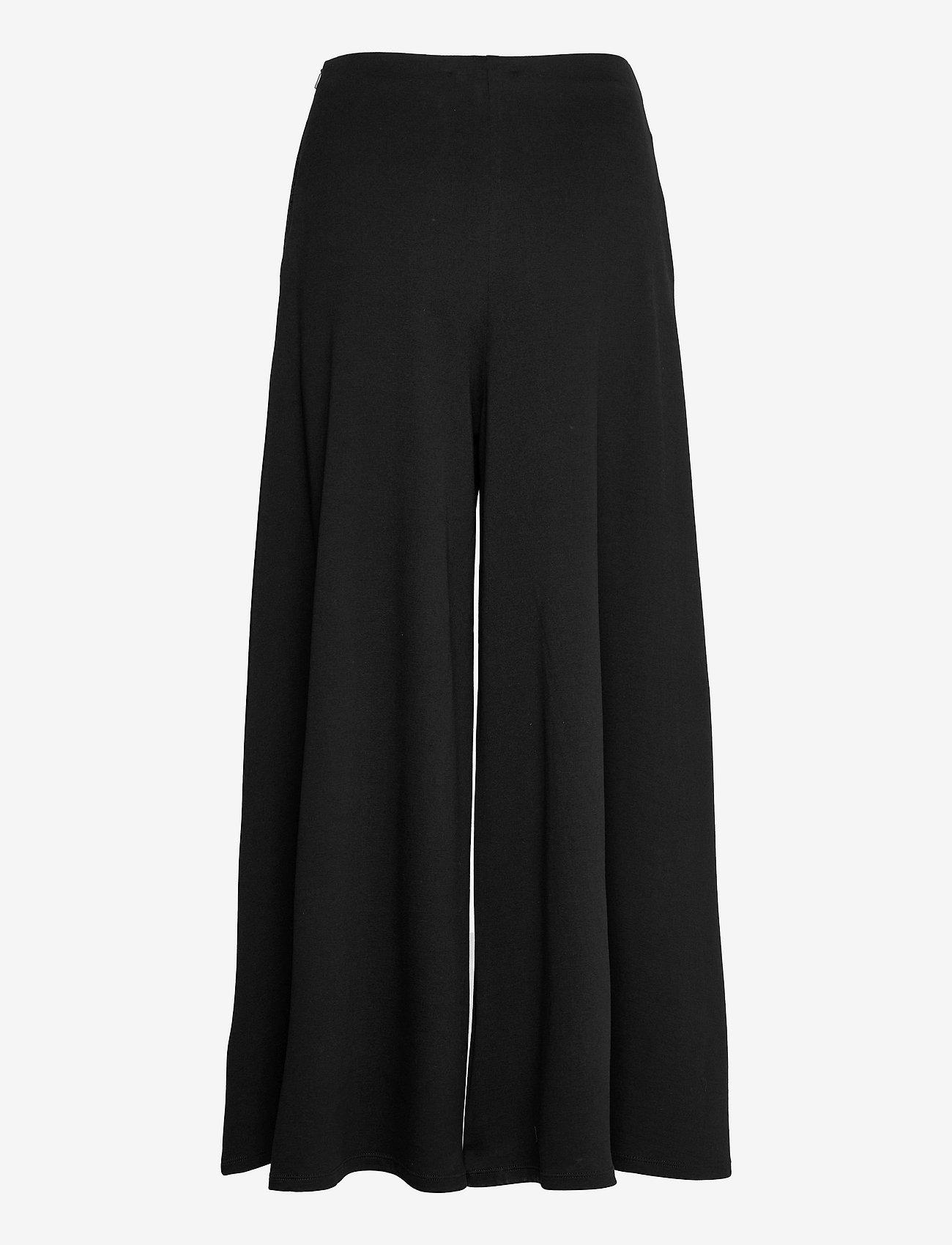 Max Mara Leisure - ESPERIA - wide leg trousers - black - 1