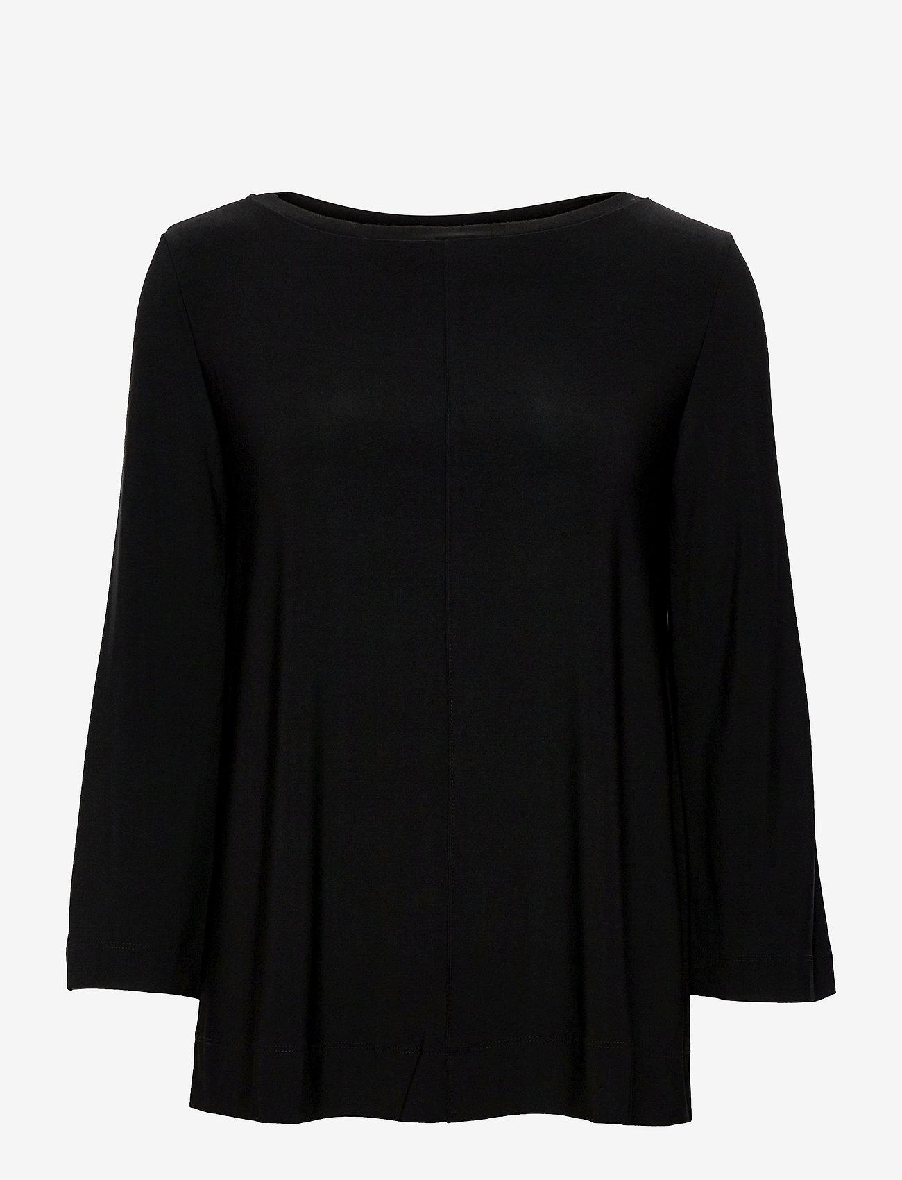 Max Mara Leisure - RIVOLO - long sleeved blouses - black - 0