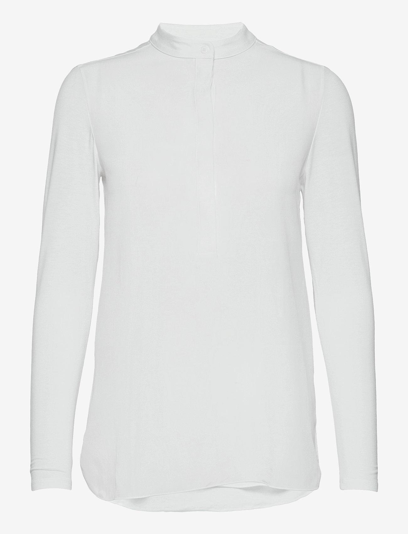 Max Mara Leisure - HAITI - long sleeved blouses - optical white - 0