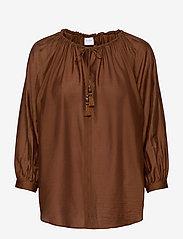 Max Mara Leisure - FAREA - long sleeved blouses - brown - 0