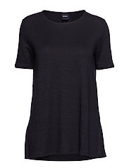 PERSEO - NAVY KNITTED BLOUSE