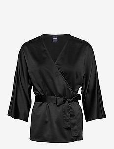 AEROSO - blouses à manches courtes - black