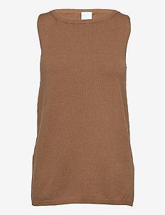 NASTIE - knitted vests - beige