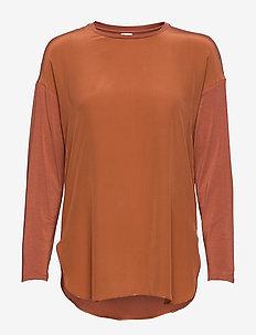 NODO - langärmlige blusen - orange