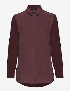 MOSA - langärmlige blusen - wine-coloured