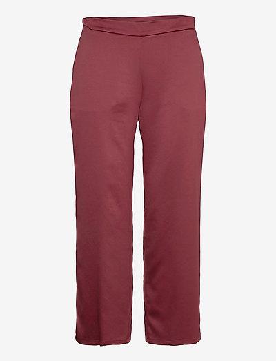 ENFASI - straight leg trousers - brick red