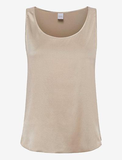 PAN - sleeveless blouses - ecru