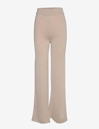 LALLA - straight leg trousers - beige