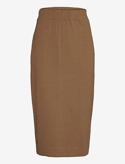 ELVY - midi skirts - golden green brown