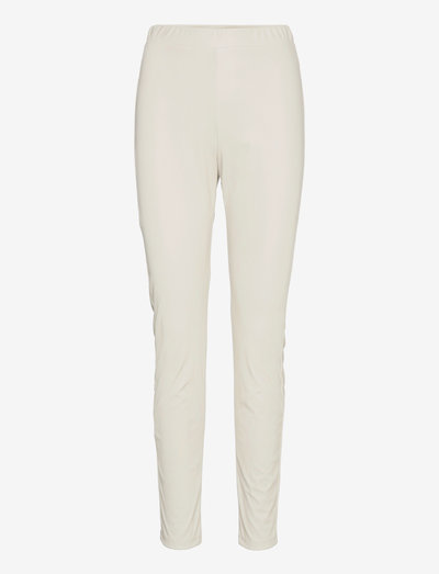 RANGHI - leather trousers - beige
