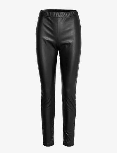 RANGHI - leather trousers - black