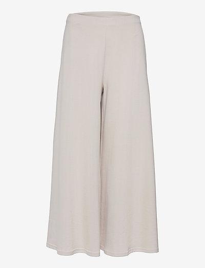 ESPERIA - wide leg trousers - beige