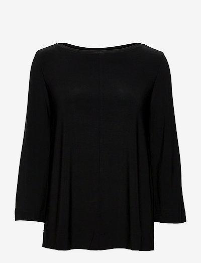 RIVOLO - long sleeved blouses - black