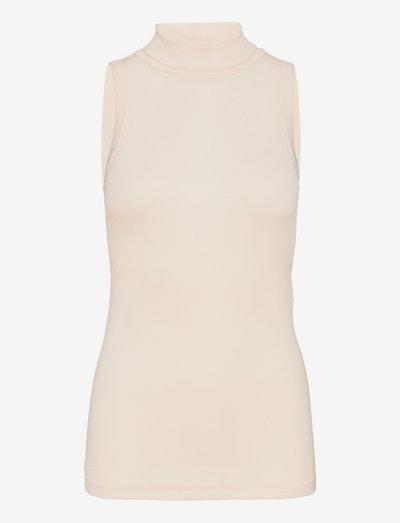 PAU - sleeveless tops - beige