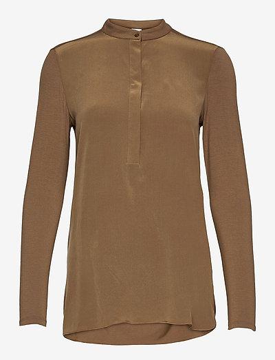 HAITI - long sleeved blouses - golden green brown