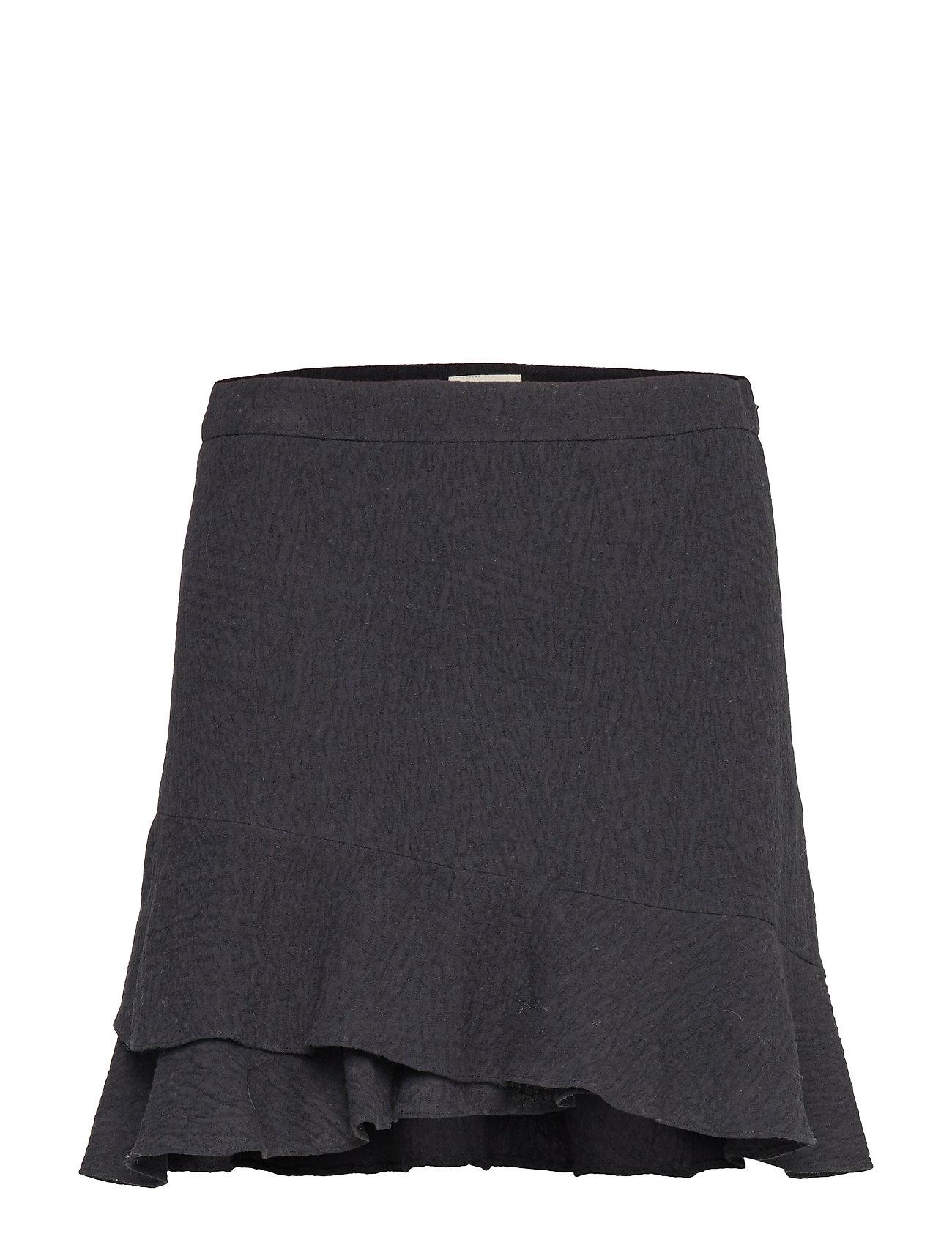 Mayla Stockholm Fran Frill Skirt - BLACK