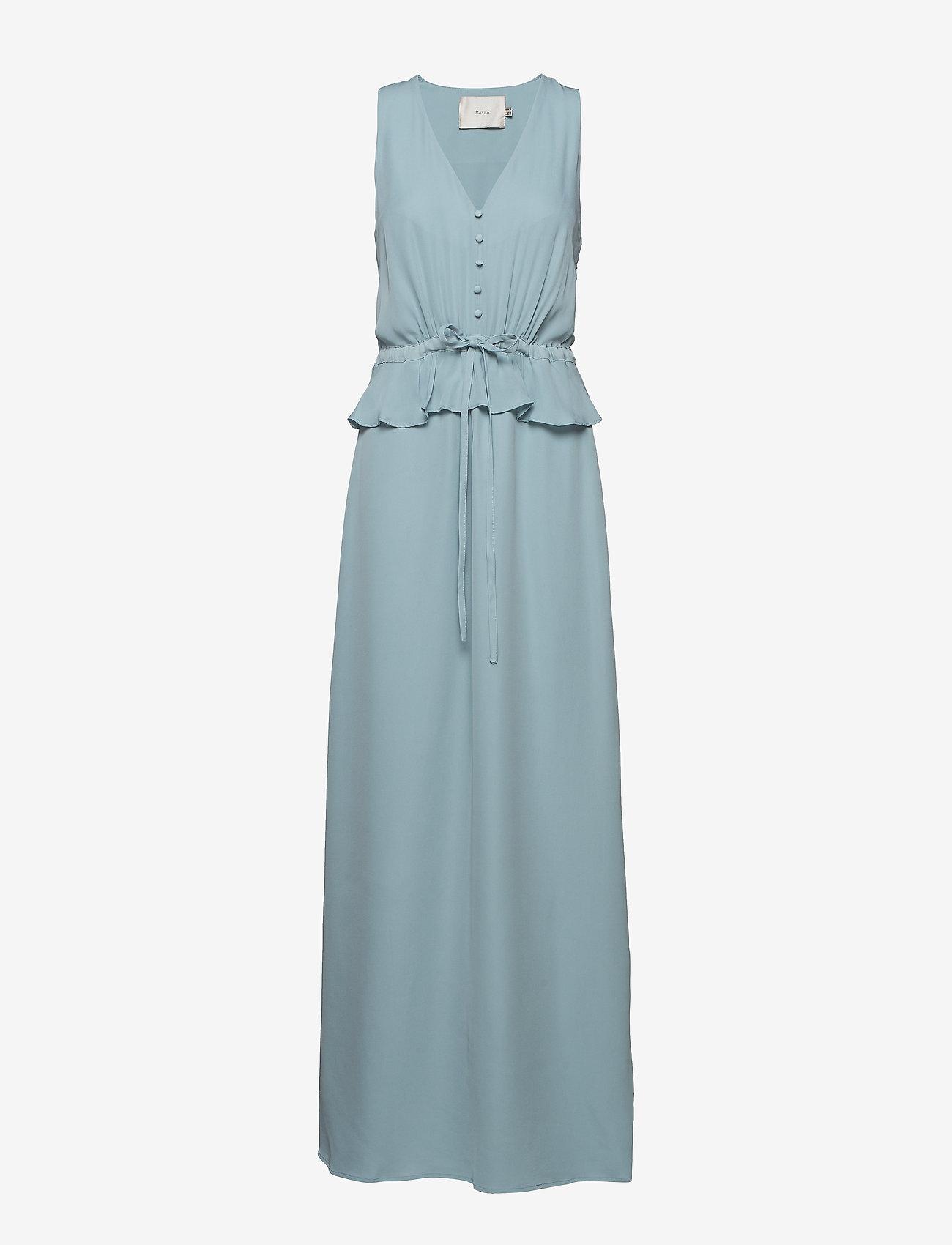 Mayla Stockholm - Lola Maxi Dress - maxi kjoler - vintage blue