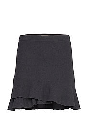 Fran Frill Skirt - BLACK