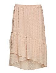 Julia Frill Midi Skirt - BLUSH