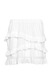 Nova Frill Mini Skirt - WHITE