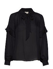 Eloise Silk Blouse - DARK NAVY