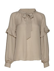 Eloise Silk Blouse - SOFT GREY