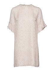 Isa Silk Dress - PLANT PRINT
