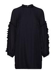 Valeria Frill Sleeve Dress - DARK NAVY