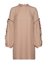 Valeria Frill Sleeve Dress - ROSE