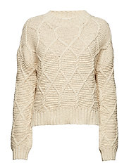 Aria Cable Knit Sweater - CREME