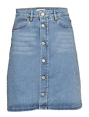 Stella Denim Skirt - FADED BLUE