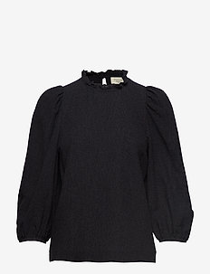 Carly Puff Sleeve Top - BLACK