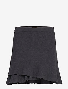 Fran Frill Skirt - BLACK