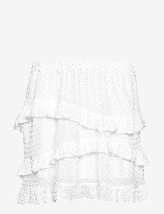 Nova Frill Mini Skirt - WHITE