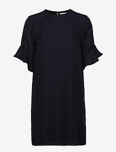 Isa Silk Dress - DARK NAVY