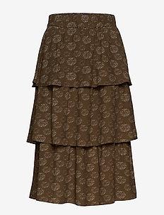 Ariana Midi Skirt - DANDELION PRINT