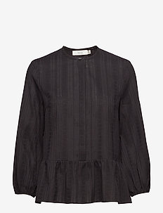 Leah Embroidery Blouse - BLACK