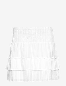 Ruby Embroidery Mini Skirt - WHITE