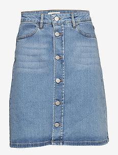 Stella Denim Skirt - FADED BLUE