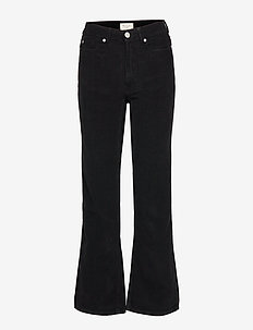 Elsa Corduroy Pants - BLACK
